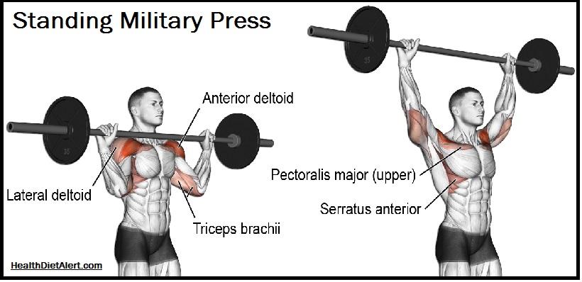 standing military press